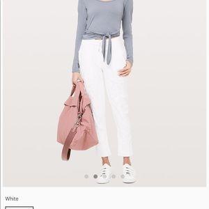 Lululemon street to studio lined pants white 8/M